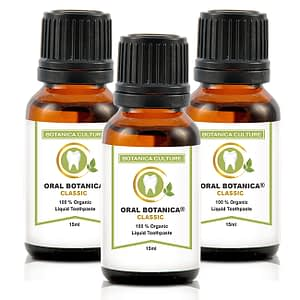 3 Oral Botanica Bottles