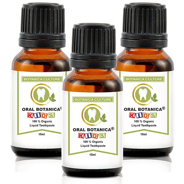 oral botanica kids 3 bottles