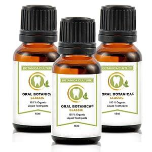 3 Oral Botanica Bottles